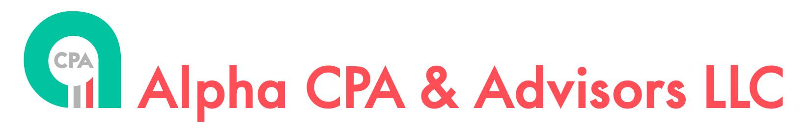 Alpha CPA & Advisors LLC logo horizontal